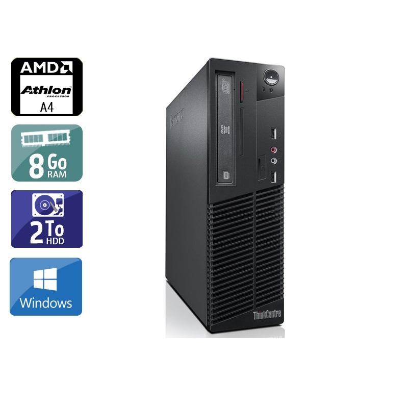 Lenovo ThinkCentre M78 SFF AMD A4 8Go RAM 2To HDD Windows 10