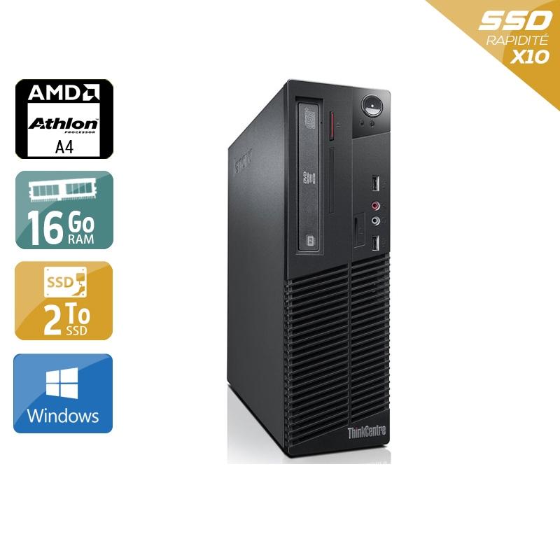 Lenovo ThinkCentre M78 SFF AMD A4 16Go RAM 2To SSD Windows 10