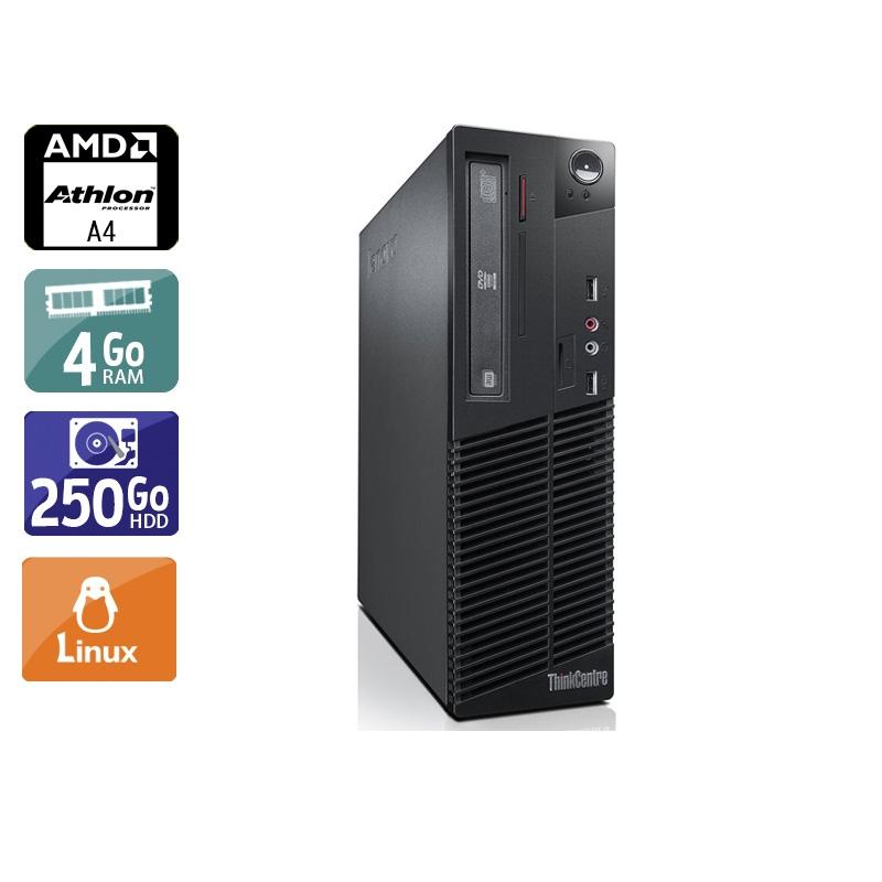 Lenovo ThinkCentre M78 SFF AMD A4 4Go RAM 250Go HDD Linux
