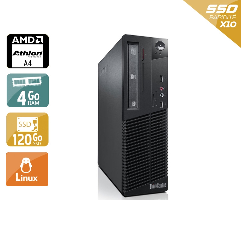 Lenovo ThinkCentre M78 SFF AMD A4 4Go RAM 120Go SSD Linux