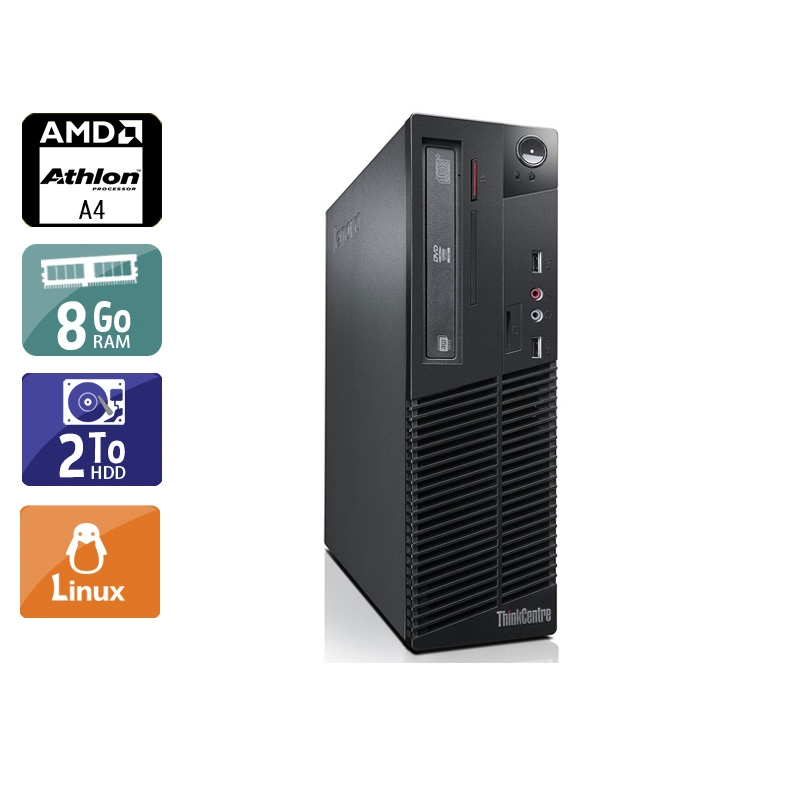Lenovo ThinkCentre M78 SFF AMD A4 8Go RAM 2To HDD Linux