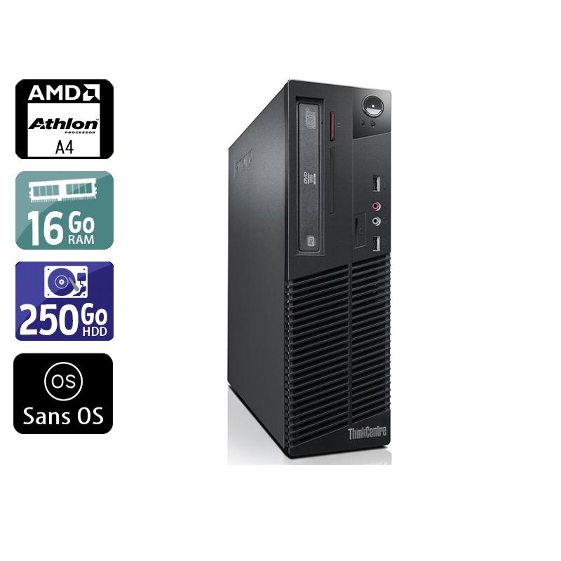 Lenovo ThinkCentre M78 SFF AMD A4 16Go RAM 250Go HDD Sans OS