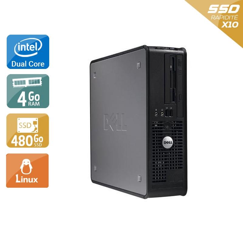 Dell Optiplex 760 SFF Dual Core 4Go RAM 480Go SSD Linux