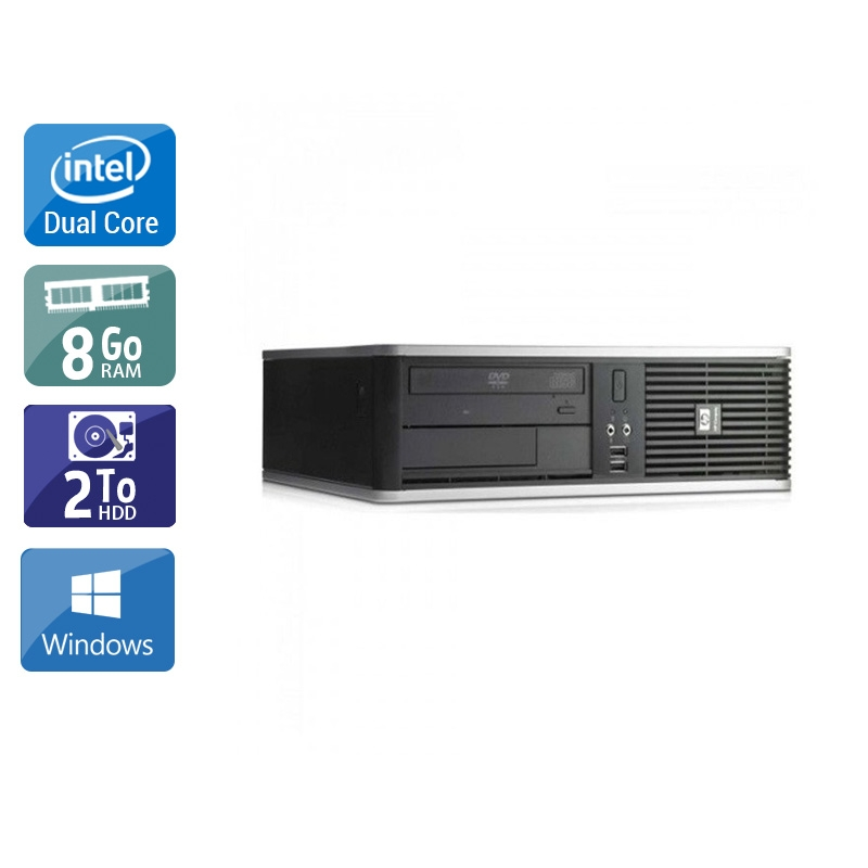 HP Compaq dc7900 SFF Dual Core 8Go RAM 2To HDD Windows 10