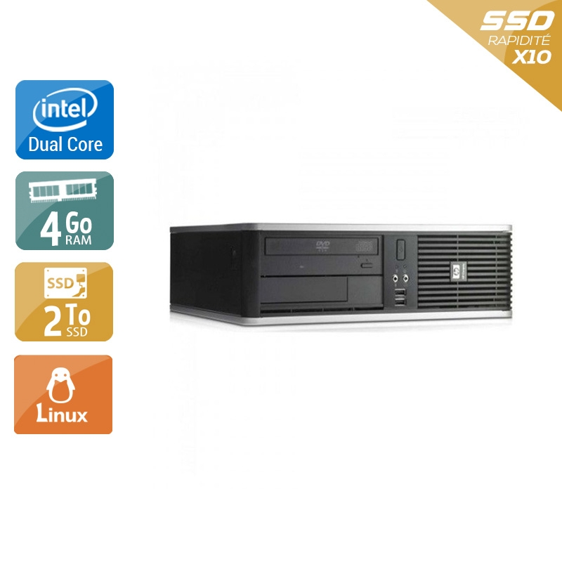 HP Compaq dc7900 SFF Dual Core 4Go RAM 2To SSD Linux