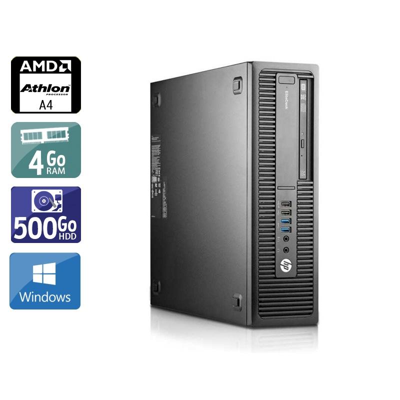 HP EliteDesk 705 G1 SFF AMD A4 4Go RAM 500Go HDD Windows 10