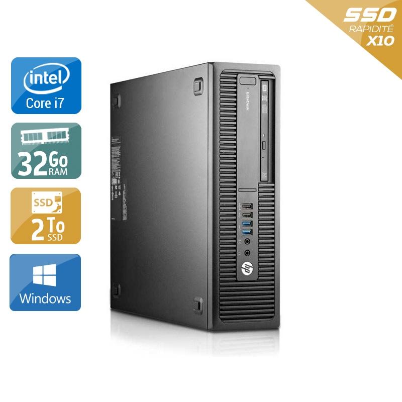 HP EliteDesk 800 G1 SFF i7 32Go RAM 2To SSD Windows 10