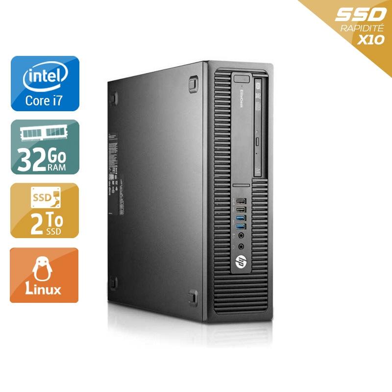 HP EliteDesk 800 G1 SFF i7 32Go RAM 2To SSD Linux