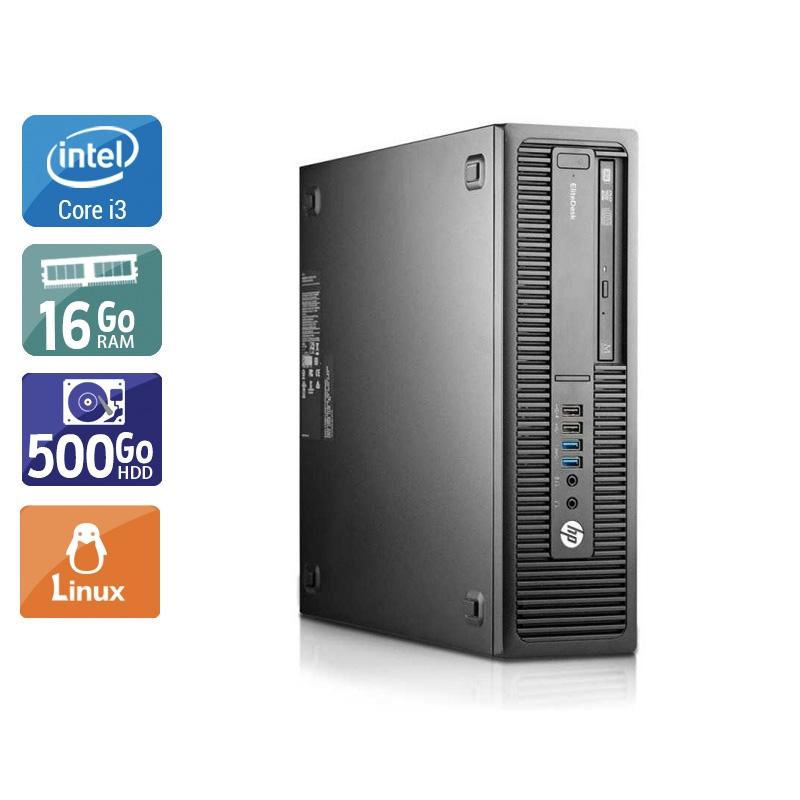 HP EliteDesk 800 G2 SFF i3 Gen 6 16Go RAM 500Go HDD Linux