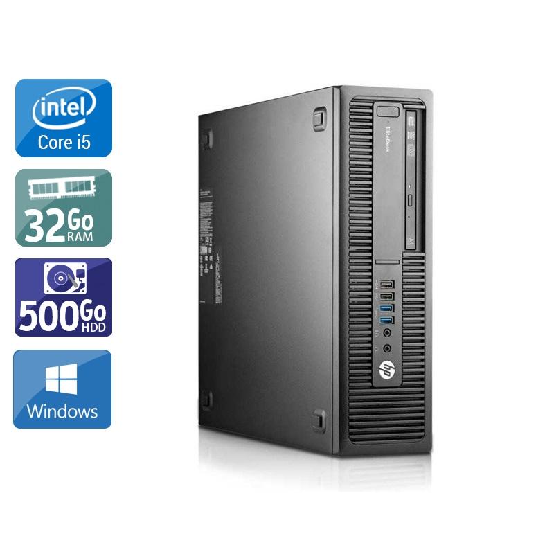 HP EliteDesk 800 G2 SFF i5 Gen 6 32Go RAM 500Go HDD Windows 10