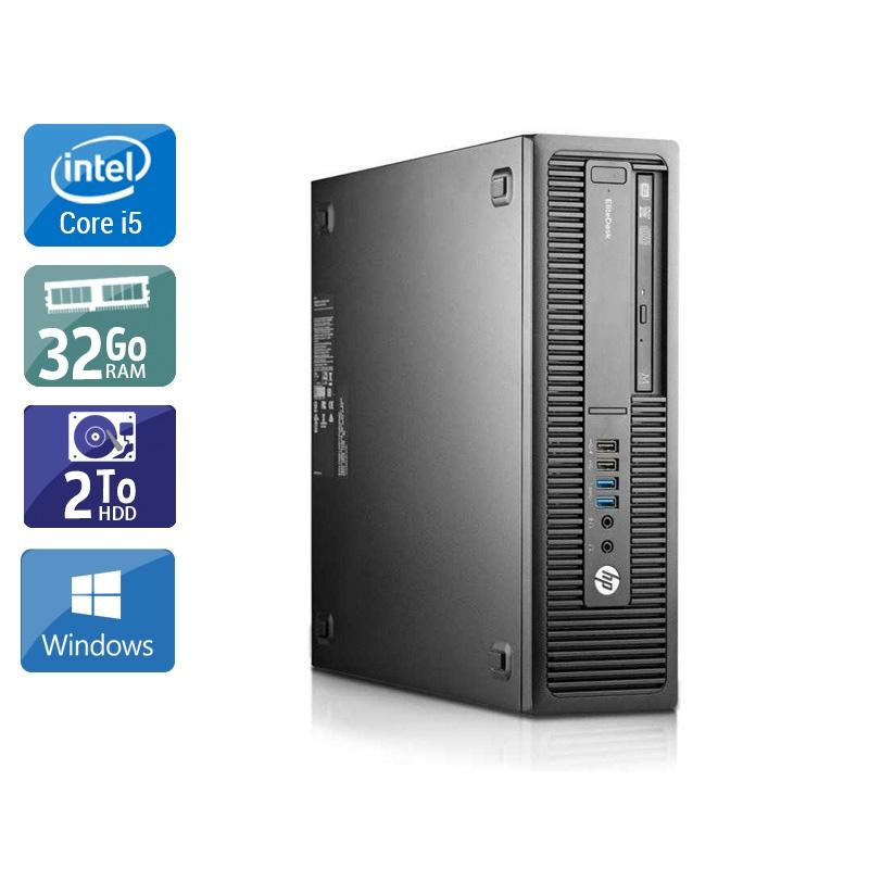 HP EliteDesk 800 G2 SFF i5 Gen 6 32Go RAM 2To HDD Windows 10