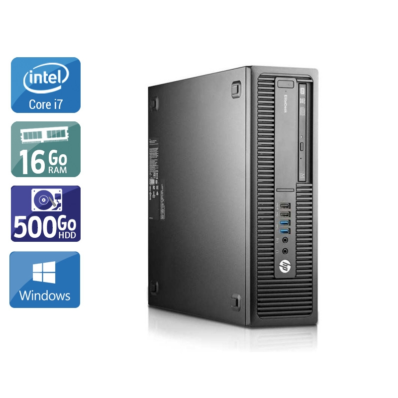 HP EliteDesk 800 G2 SFF i7 Gen 6 16Go RAM 500Go HDD Windows 10