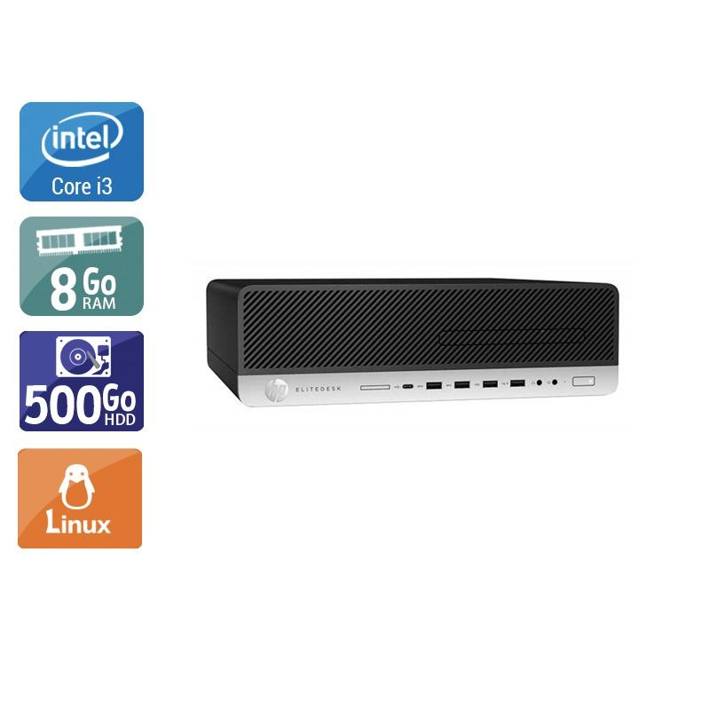 HP EliteDesk 800 G3 SFF i3 Gen 7 8Go RAM 500Go HDD Linux