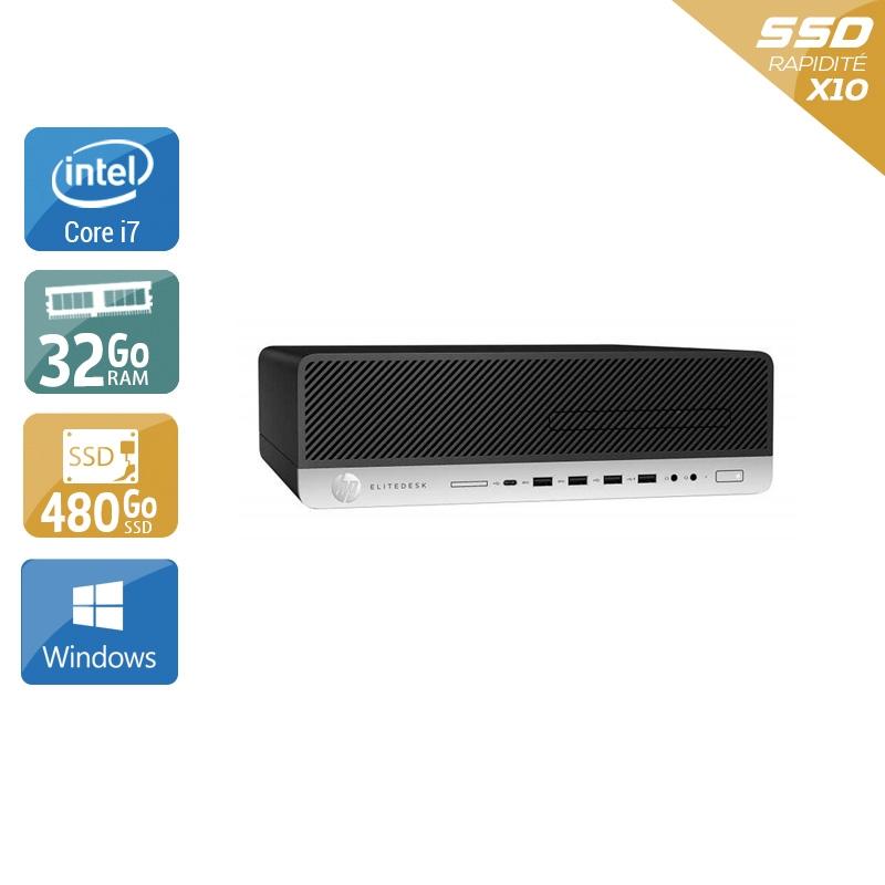 HP EliteDesk 800 G3 SFF i7 Gen 6 32Go RAM 480Go SSD Windows 10