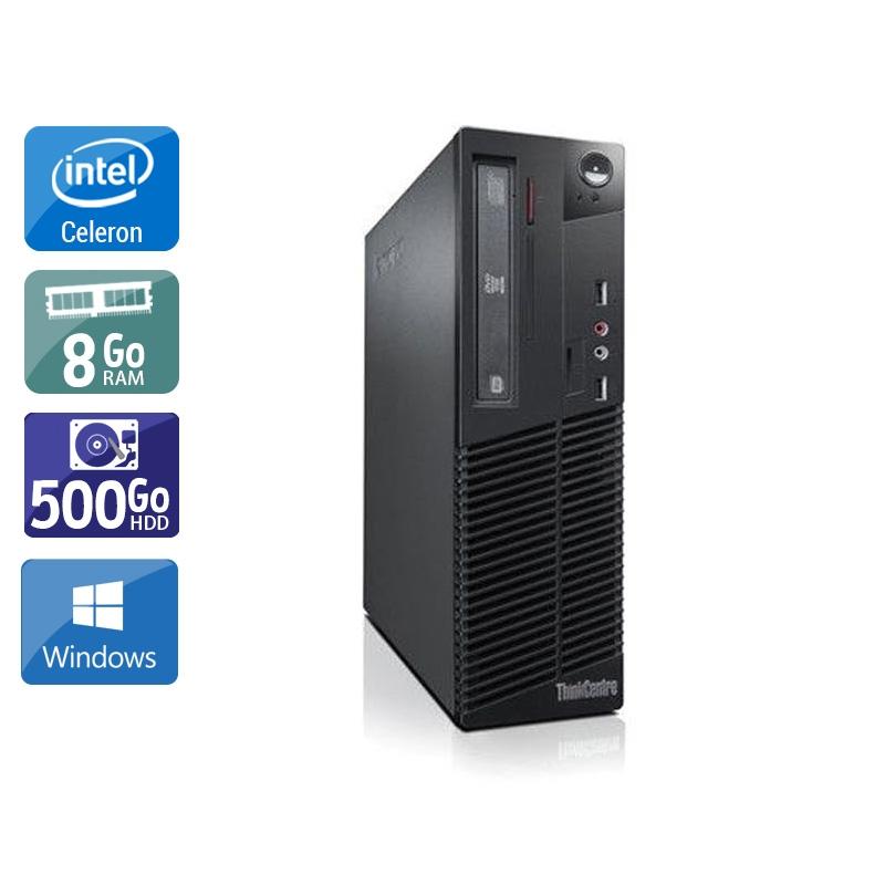 Lenovo ThinkCentre M71 SFF Celeron Dual Core 8Go RAM 500Go HDD Windows 10