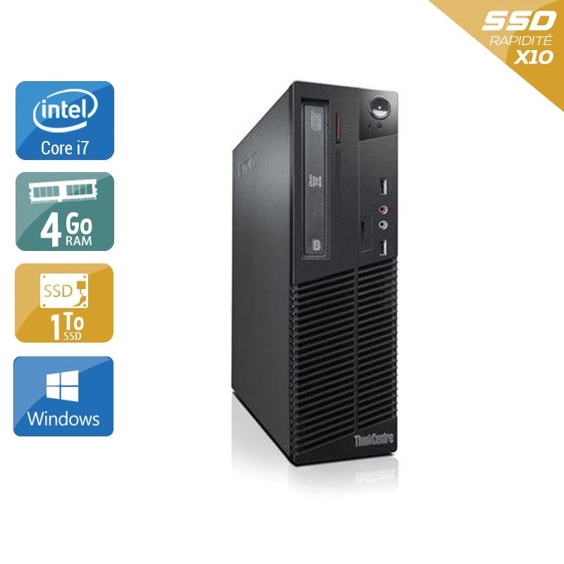 Lenovo ThinkCentre M72E SFF i7 4Go RAM 1To SSD Windows 10