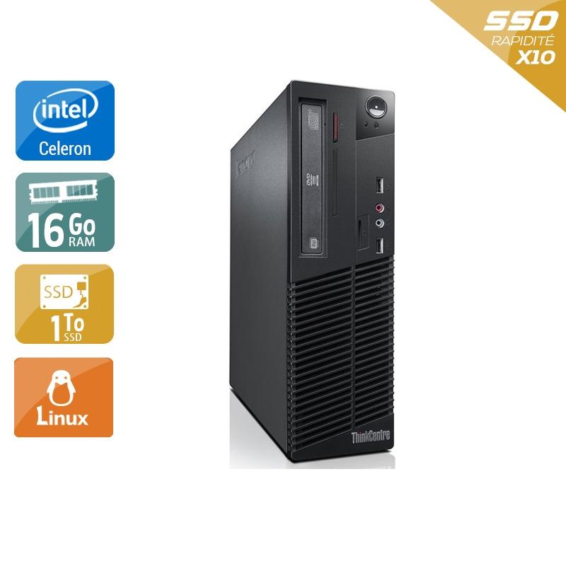 Lenovo ThinkCentre M73 SFF Celeron Dual Core 16Go RAM 1To SSD Linux