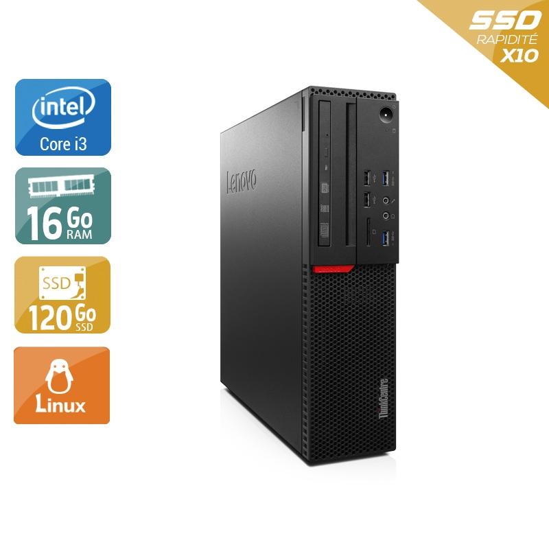Lenovo ThinkCentre M800 SFF i3 Gen 6 16Go RAM 120Go SSD Linux