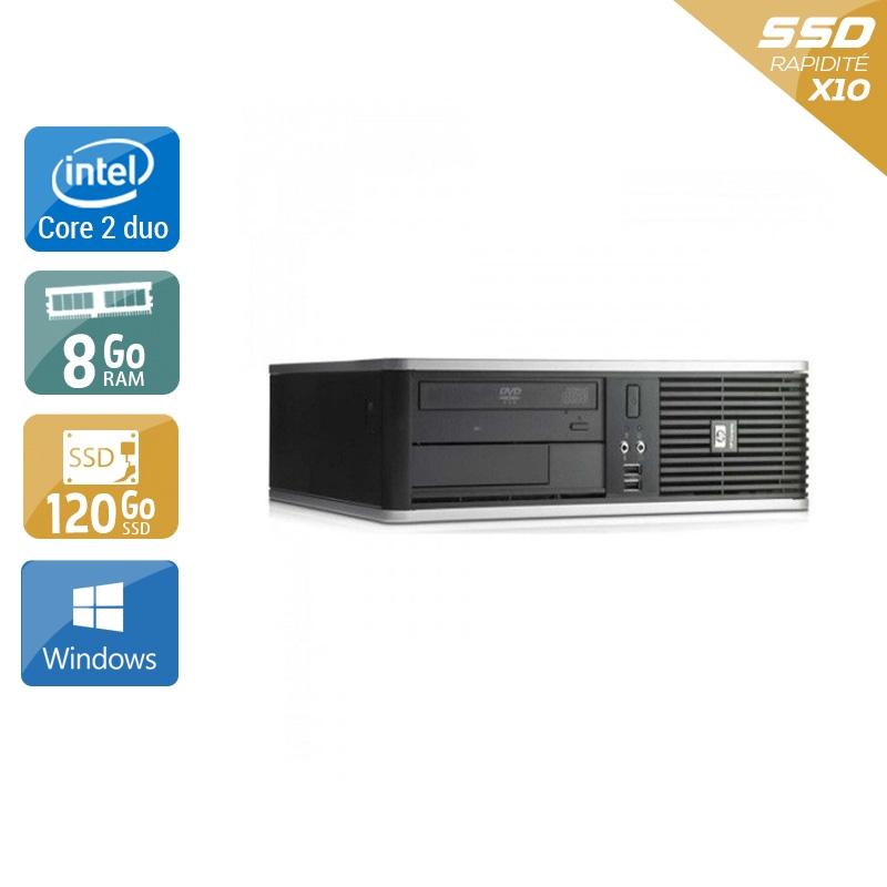 HP Compaq dc7900 SFF Core 2 Duo 8Go RAM 120Go SSD Windows 10