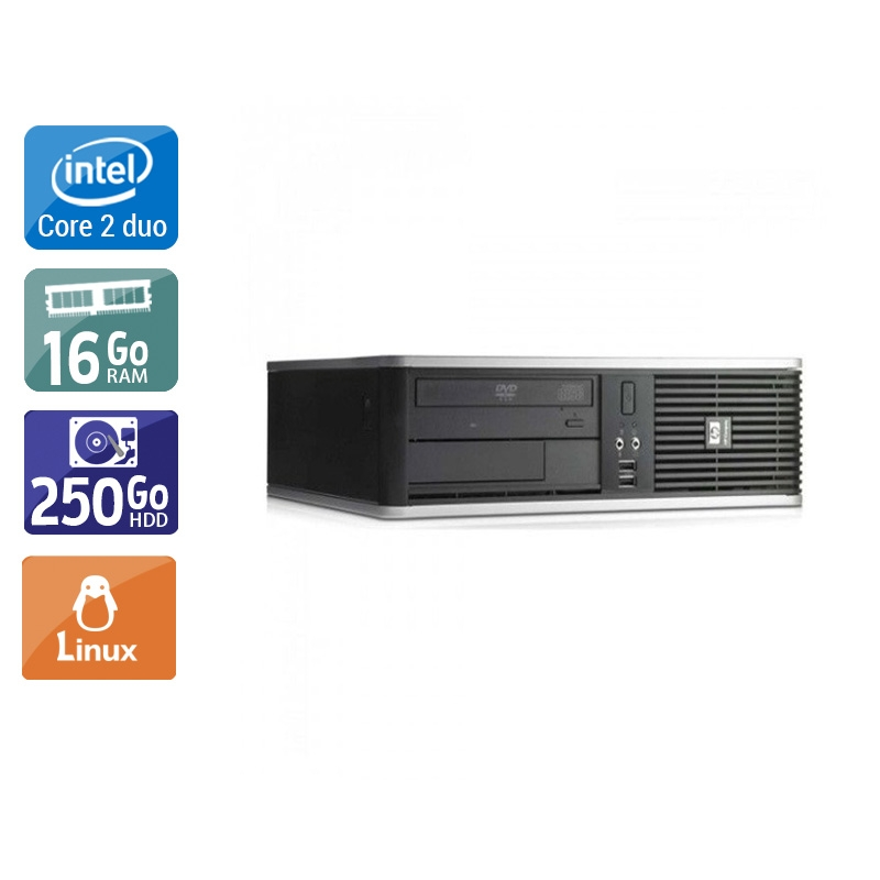 HP Compaq dc7900 SFF Core 2 Duo 16Go RAM 250Go HDD Linux