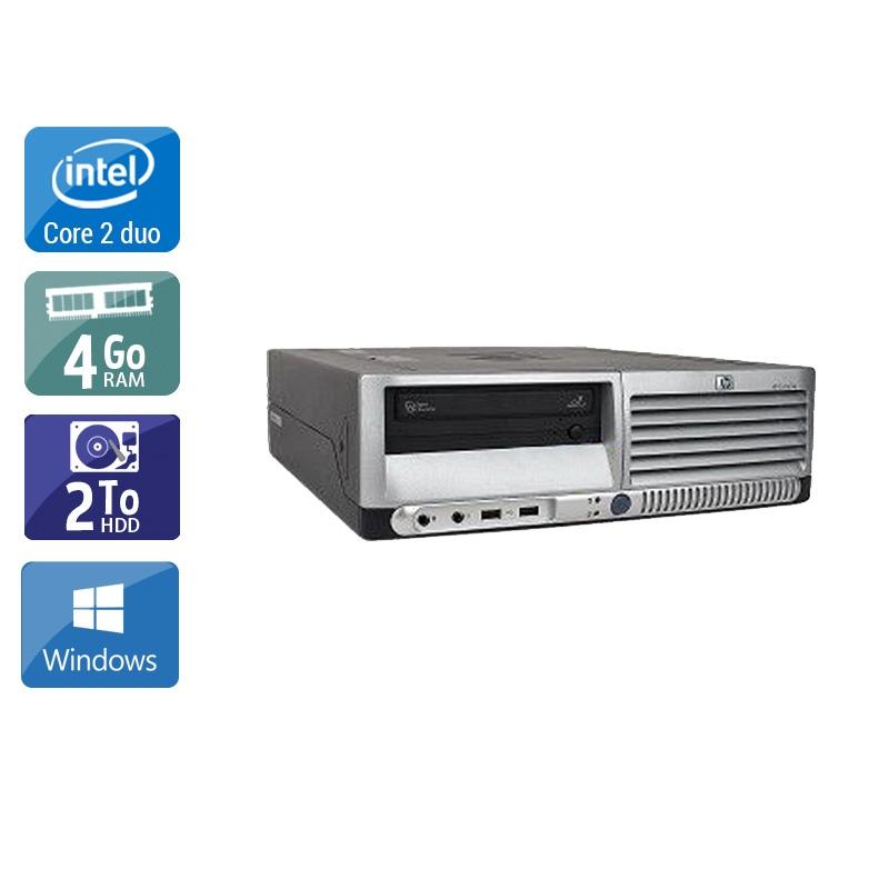 HP Compaq dc7700 SFF Core 2 Duo 4Go RAM 2To HDD Windows 10