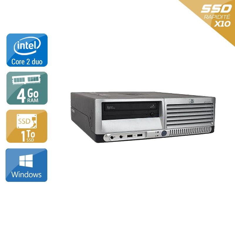 HP Compaq dc7700 SFF Core 2 Duo 4Go RAM 1To SSD Windows 10
