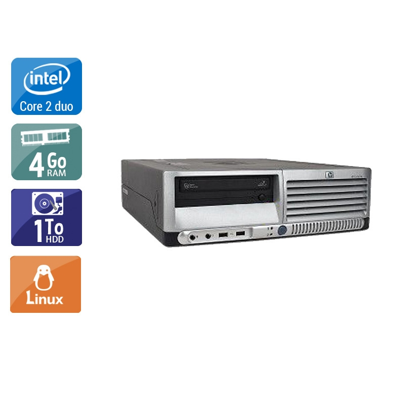 HP Compaq dc7700 SFF Core 2 Duo 4Go RAM 1To HDD Linux