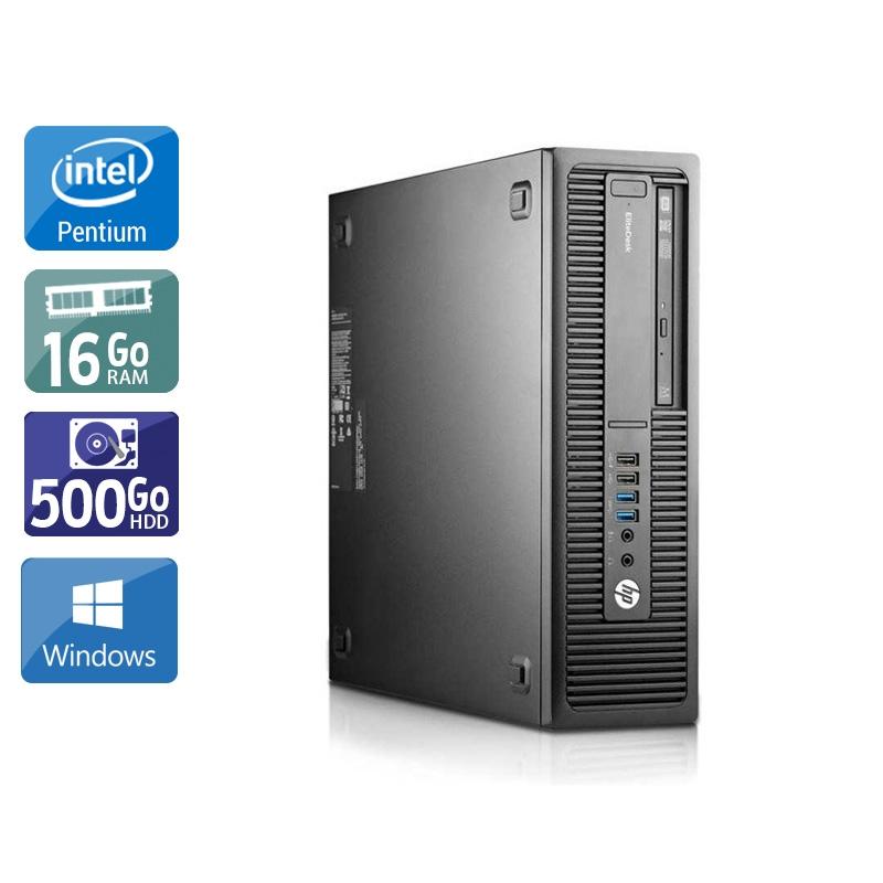 HP EliteDesk 800 G1 SFF Pentium G Dual Core 16Go RAM 500Go HDD Windows 10