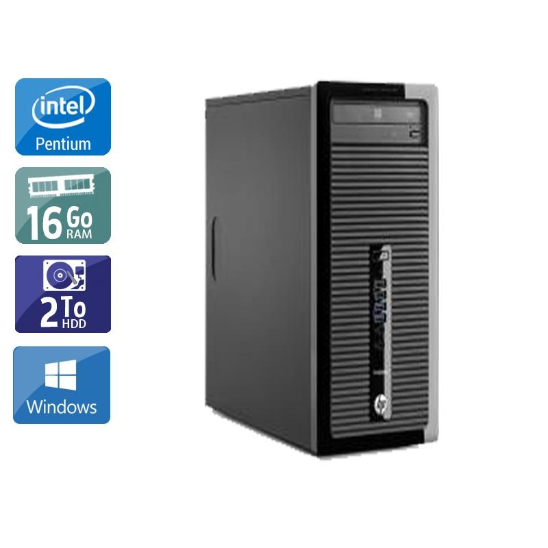 HP ProDesk 400 G1 Tower Pentium G Dual Core 16Go RAM 2To HDD Windows 10