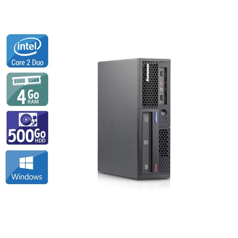 Lenovo ThinkCentre M58 USFF Core 2 Duo 4Go RAM 500Go HDD Windows 10