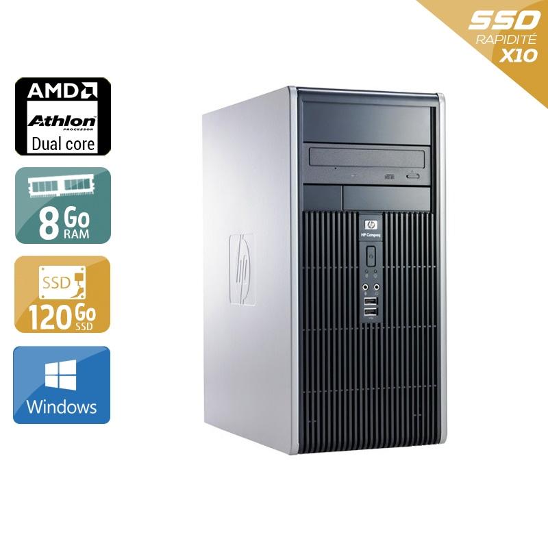 HP Compaq dc5850 Tower AMD Athlon Dual Core 8Go RAM 120Go SSD Windows 10