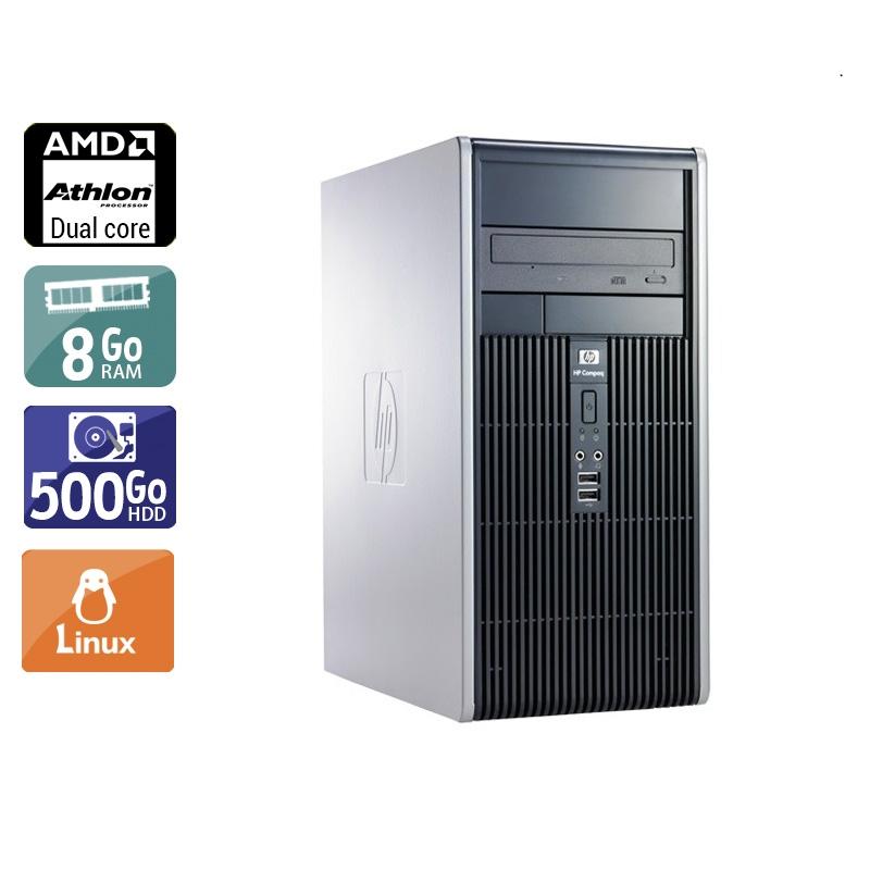 HP Compaq dc5850 Tower AMD Athlon Dual Core 8Go RAM 500Go HDD Linux