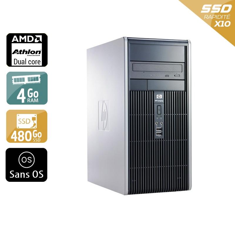 HP Compaq dc5850 Tower AMD Athlon Dual Core 4Go RAM 480Go SSD Sans OS