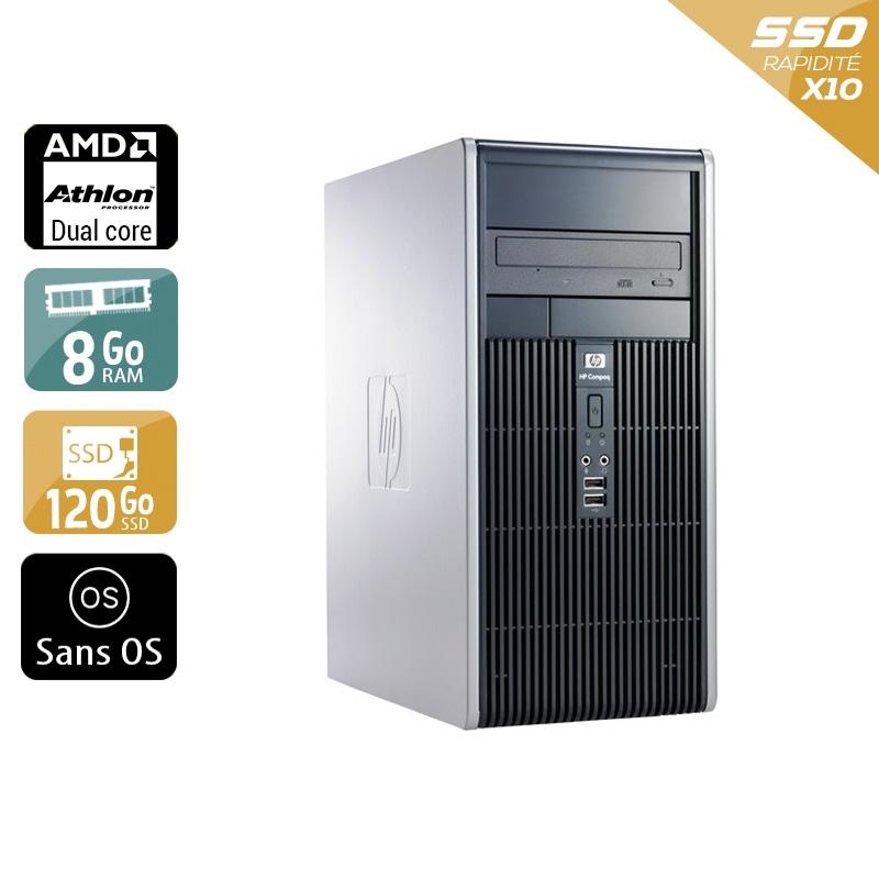 HP Compaq dc5850 Tower AMD Athlon Dual Core 8Go RAM 120Go SSD Sans OS