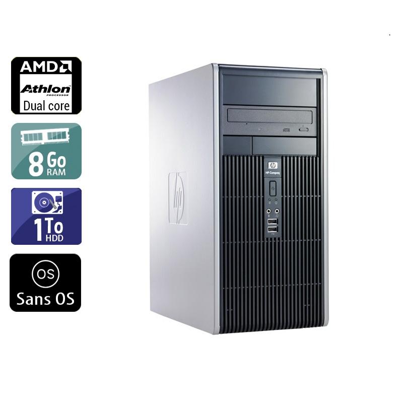 HP Compaq dc5850 Tower AMD Athlon Dual Core 8Go RAM 1To HDD Sans OS