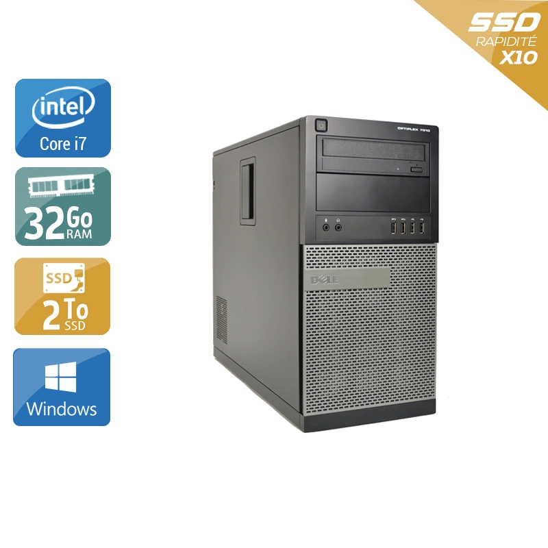 Dell Optiplex 9020 Tower i7 32Go RAM 2To SSD Windows 10