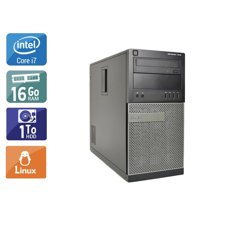 Dell Optiplex 9020 Tower i7 16Go RAM 1To HDD Linux