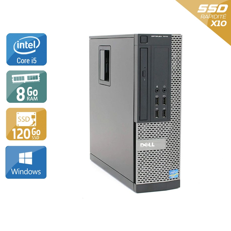 Dell Optiplex 9020 SFF i5 8Go RAM 120Go SSD Windows 10