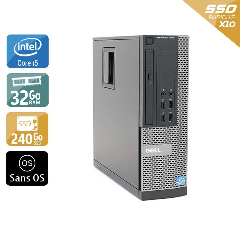 Dell Optiplex 9020 SFF i5 32Go RAM 240Go SSD Sans OS