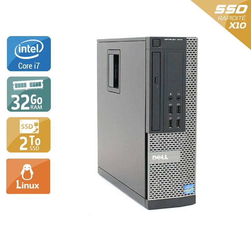 Dell Optiplex 9020 SFF i7 32Go RAM 2To SSD Linux