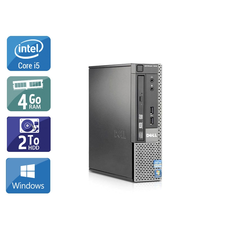 Dell Optiplex 9020 USDT i5 4Go RAM 2To HDD Windows 10