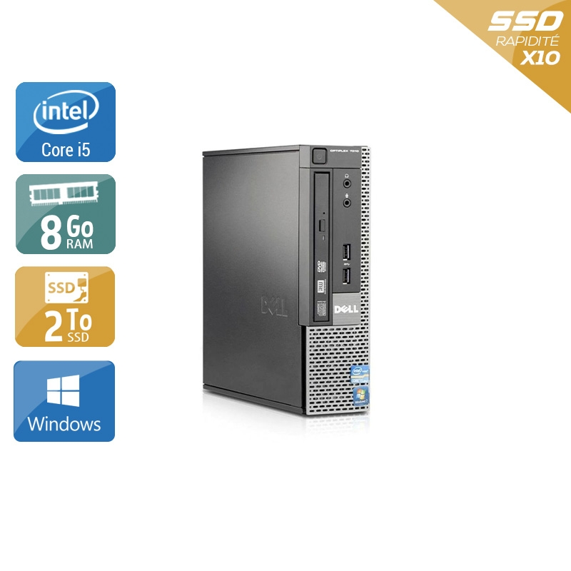 Dell Optiplex 9020 USDT i5 8Go RAM 2To SSD Windows 10