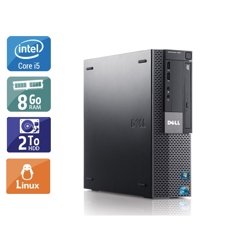 Dell Optiplex 980 Desktop i5 8Go RAM 2To HDD Linux