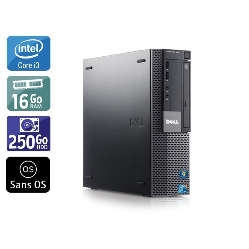 Dell Optiplex 980 SFF i3 16Go RAM 250Go HDD Sans OS