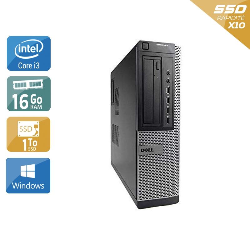 Dell Optiplex 990 Desktop i3 16Go RAM 1To SSD Windows 10