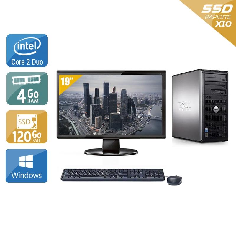 Dell Optiplex 760 Tower Core 2 Duo avec Écran 19 pouces 4Go RAM 120Go SSD Windows 10
