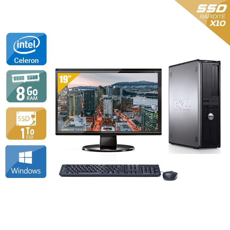 Dell Optiplex 780 Desktop Celeron Dual Core avec Écran 19 pouces 8Go RAM 1To SSD Windows 10