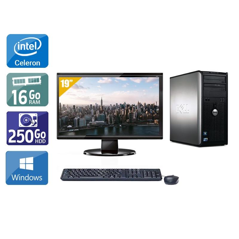 Dell Optiplex 780 Tower Celeron Dual Core avec Écran 19 pouces 16Go RAM 250Go HDD Windows 10