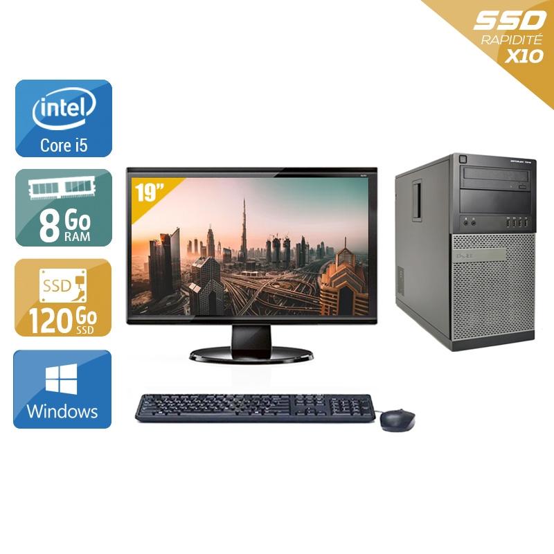 Dell Optiplex 790 Tower i5 avec Écran 19 pouces 8Go RAM 120Go SSD Windows 10