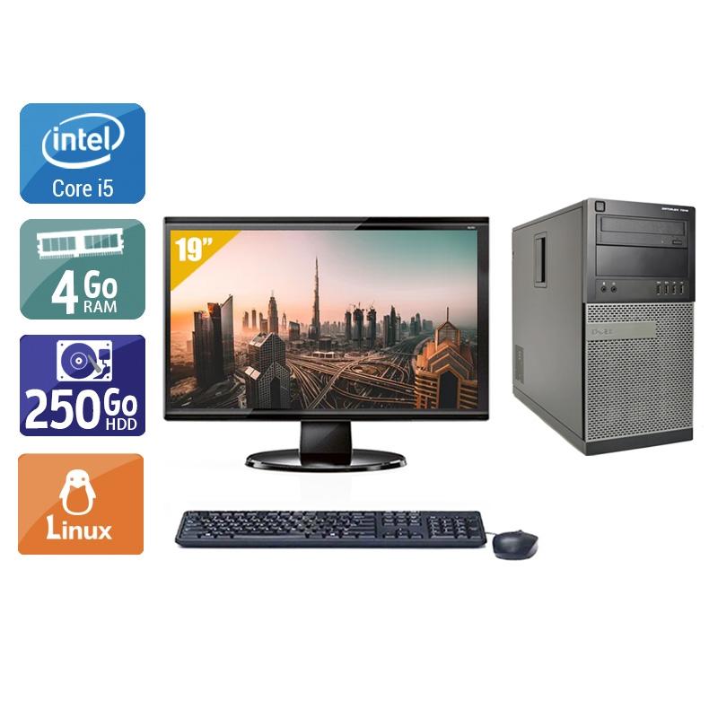 Dell Optiplex 790 Tower i5 avec Écran 19 pouces 4Go RAM 250Go HDD Linux